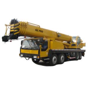QLY60 truck crane   U-shape telescopic boom hydraulic truck   60 ton lifting capacity heavy duty truck crane   high quality QLY series Mobile Cranes   Truck Cranes   Truck Mounted Cranes