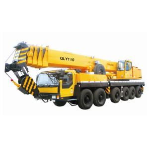 QLY110 truck crane   110 ton heavy duty telescopic boom hydraulic truck   hot sale QLY series Mobile Cranes   Truck Cranes   Boom Truck Cranes   with 25% lifting safety co-efficient