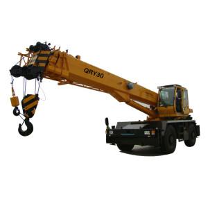 QRY30 rough terrain crane | hot sale 30 ton telescopic boom rough terrain crane | high quality, factory price crane | with 25% lifting safety co-efficient