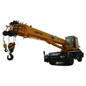 QRY60 rough terrain crane | hot sale 60 ton telescopic boom rough terrain crane | high quality, factory price crane | with 25% lifting safety co-efficient