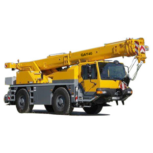 QAY40 rough terrain crane | hot sale 40 ton telescopic boom rough terrain crane | high quality, factory price crane | with 25% lifting safety co-efficient