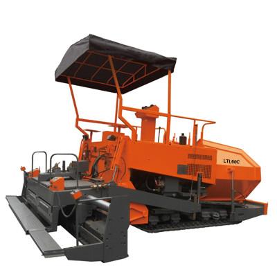 LTL60C track type asphalt paver   mechanical driven   2.5-6m paving width   world's leading supplier of tow-type asphalt paver