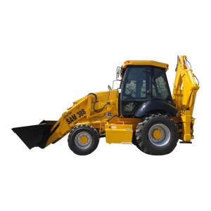 SAM388 hot sale backhoe loader | 4-wheel driven | 1m3 loading bucket & 0.3m3  digging bucket | Backhoe Loaders | Construction & Mining Equipment | HENGLIDA construction machinery
