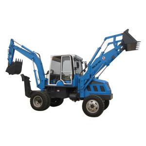 WZL25-10A 2-wheel driven backhoe loader   0.75m3 loading bucket & 0.25m3 digging bucket   china small backhoe loader with cheap price