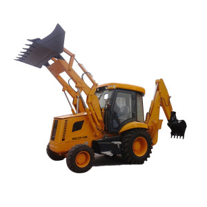 WZL25-10B 4-wheel driven backhoe loader | 0.96m3 loading bucket & 0.25m3  digging bucket | china backhoe loader wholesale supplier – HENGLIDA construction equipment