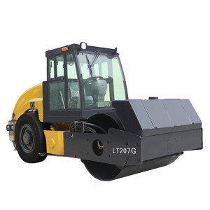 LT207G mechanical driven 7 ton vibratory road roller ( CE ) | front drum & smooth rear tires | road construction machinery | china henglida road construction machinery