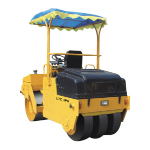 LTC3PB: mechanical driven, 3 ton vibratory road roller ( CE ) | front drum & 3 rear smooth tire ( or 2 rear pattern tire ) | China Small Vibratory Road Roller | www.henglida-china.com