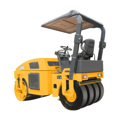 LTC203P: hydraulic driven, 3 ton vibratory road roller with 4 rear wheels ( CE ) | china small tire combined hydraulic vibratory road roller | henglida machinery company