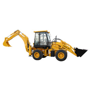 WZ30-25A backhoe loader with articulated chassis | 1m3 loading bucket & 0.3m3  digging bucket | china backhoe loader  | www.henglida-china.com