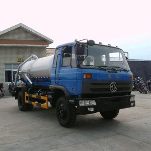 Hot sale JDF5120GXWK vacuum sewage suction truck| 8000L vacuum cleaning truck
