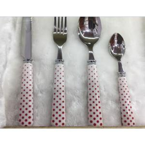 Reusable Plastic Handle Stainless Steel Cutlery