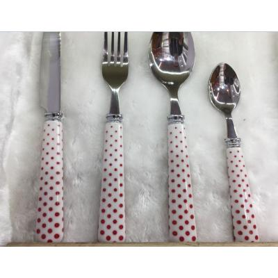 Reusable Plastic Handle Stainless Steel Cutlery