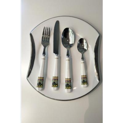 Ceramic handle serving cutlery set