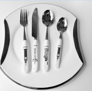 Classic ceramic handle cutlery set