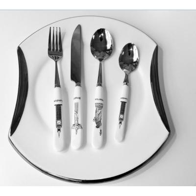 Classic ceramic handle cutlery set