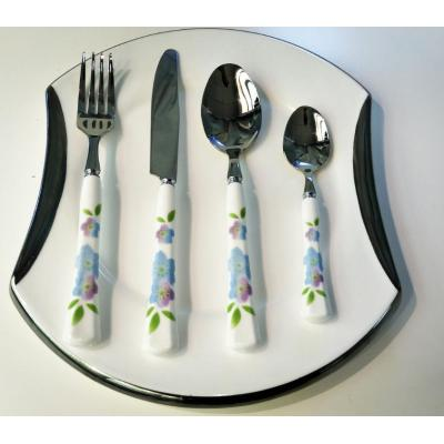 Flower Pattern Printed Ceramic Handle cutlery