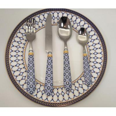 High quality unique ceramic handle cutlery set