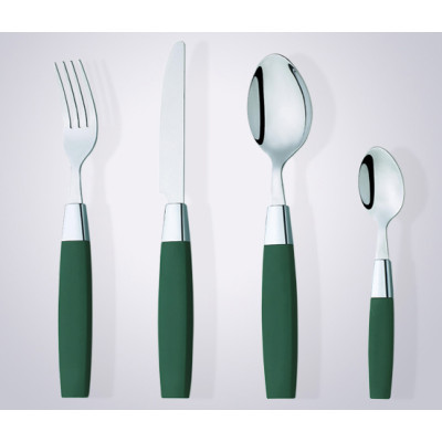 hot selling stainless steel cutlery set with ABS  plastic handle