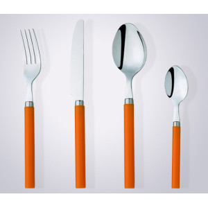 Hot-sell wholesale Stainless steel with colour plastic handle cutlery