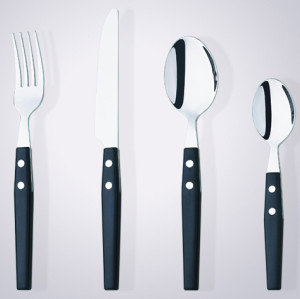 new design good quality stainless steel cutlery set with ABS handle