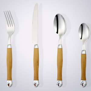 Plastic handle full tang good looking stainless steel cutlery