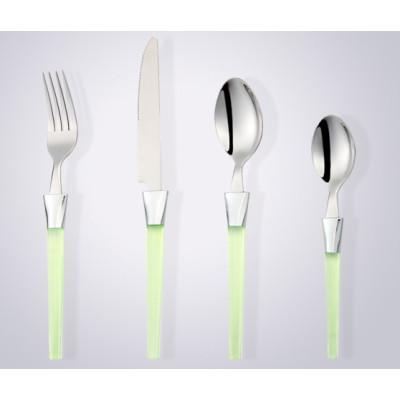 disposable plastic handle half tong stainless steel cutlery, dinnerware