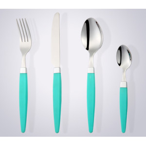 cathylin hot sell plastic handle stainless steel silverware