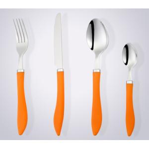 new design plastic handle stainless steel silverware