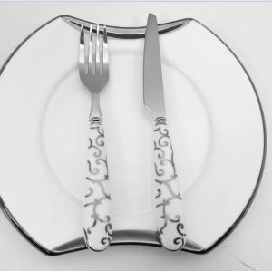 Mini ceramic handle fruit knife and fork