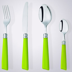 New item plastic handle flatware sets