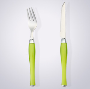 plastic handle 24pcs cutlery set