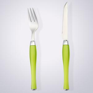 plastic handle 24pcs cutlery set