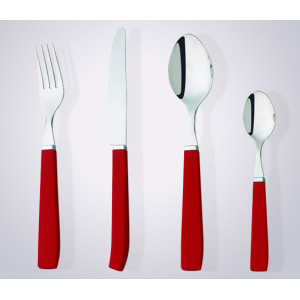 Plastic handle flatware set dessert fork and knife
