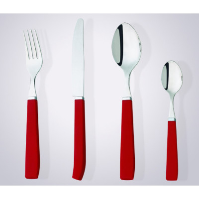 Plastic handle flatware set dessert fork and knife