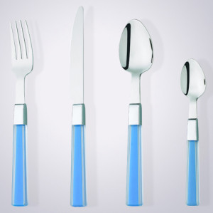 new design high quality plastic handle tableware set