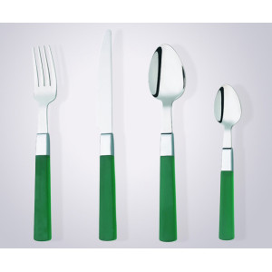 Plastic handle cutlery set for promotion or low end market