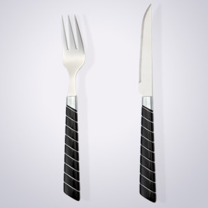Plastic Handle Cutlery Stainless Steel Colorful Plastic Handle Cutlery