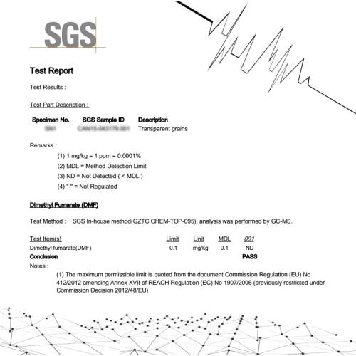 Chemical test report