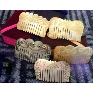 Hot Sale Luxury Promotional New Style Beautiful Small Natural Color Gift Mother of Pearl Hair Comb