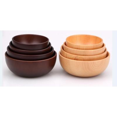 New Style Product Disposable Creative 4PCS Soup bowl Pizza Bowl Wooden bowl