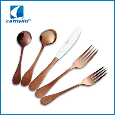 WZ002 Rose gold plated cutlery set