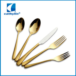 WZ002 Luxury gold plated cutlery set