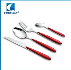 New best hot selling plastic handle cutlery