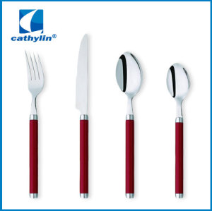 fashion design stainless steel cultery with colorful handle dinnerware set with good quality