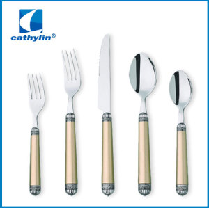 cultery set of dinnerware plastic handle cutlery