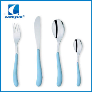disposable silver coated plastic cutlery set plastic handle cutlery