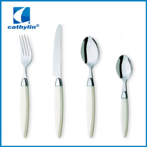 Scientific design dinner utensils plastic handlestainless steel cutlery wholesale