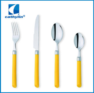 Dinner cultery set with ABS handle