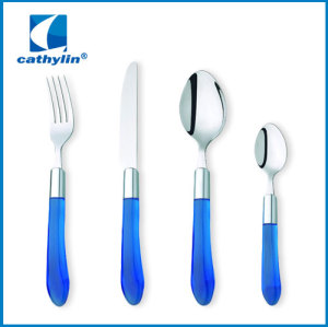 Plastic PP handle Cutlery with Machine Polishing