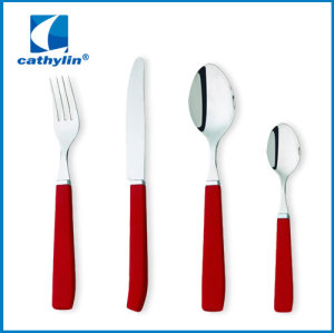 plastic handle 24pcs cutlery